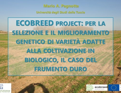 ECOBREED project con il Prof. Mario Pagnotta