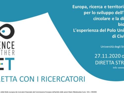 27.11.2020 Europa, ricerca e territorio insieme per lo sviluppo dell'economia circolare e la difesa della biodiversità. L'esperienza del Polo Universitario di Civitavecchia